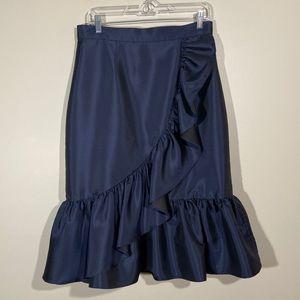 Eliza J Blue Ruffle Skirt